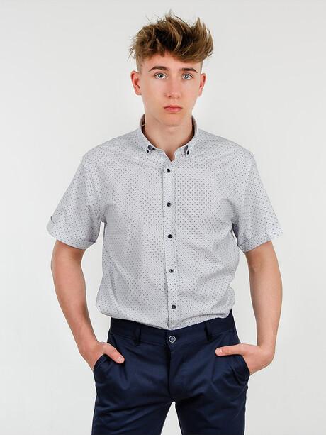 Bawełniana Koszula Męska Kolor Biały Rzymskie M Sklep Internetowy Szachownica